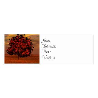 El otoño colorea los regalos del arte de los árbol tarjetas de negocios