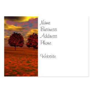 El otoño colorea los regalos del arte de los árbol tarjeta de visita