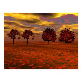 El otoño colorea los regalos del arte de los árbol tarjetas postales