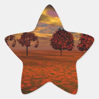 El otoño colorea los regalos del arte de los pegatina en forma de estrella