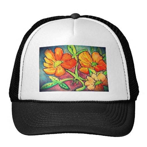 el otoño coloreado florece la acuarela gorro