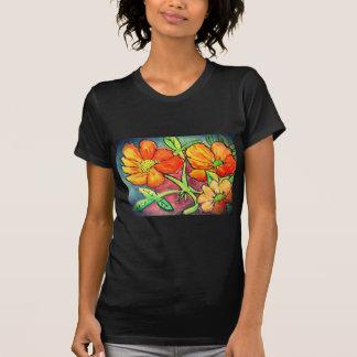 el otoño coloreado florece la acuarela camisetas