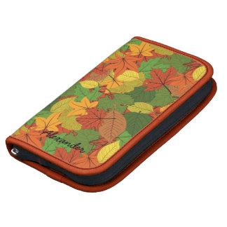 El otoño colorido hojea modelo planificadores
