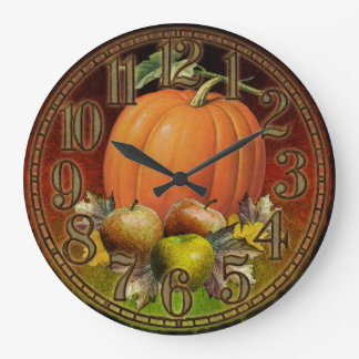 El otoño da fruto reloj de pared