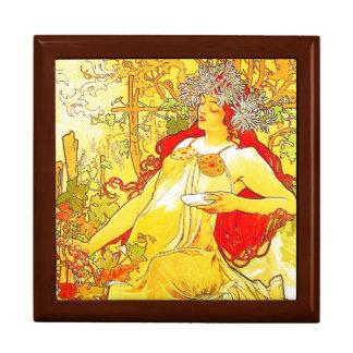 El otoño de Mucha - caja del recuerdo/de regalo Caja De Regalo