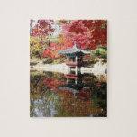 El otoño de Seul colorea el rompecabezas