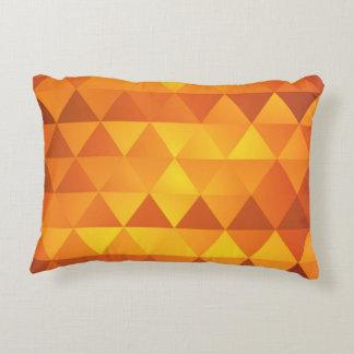 El otoño del oro entona el modelo del triángulo cojín