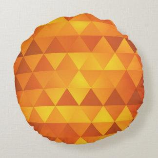 El otoño del oro entona el modelo del triángulo cojín redondo