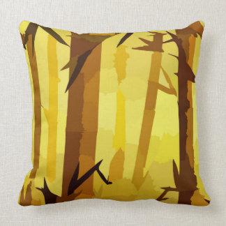 El otoño entona arte del bosque cojín
