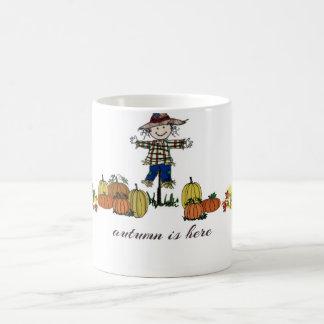 """El """"otoño está aquí"""" taza"""