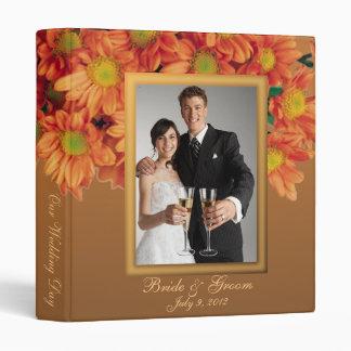 El otoño florece el álbum de foto del boda