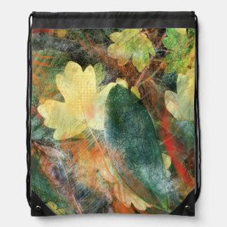 El otoño frondoso del Grunge colorea y las Mochila