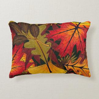 El otoño/la caída deja - la almohada de tiro cojín