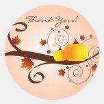 ¡El otoño le agradece! - pegatina