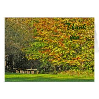 el otoño le agradece tarjeta
