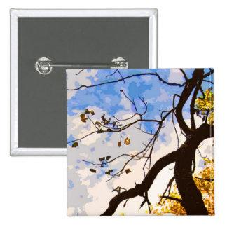 El otoño ramifica botón abstracto pin