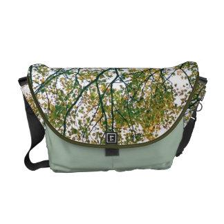 El otoño ramifica la bolsa de mensajero abstracta  bolsa messenger