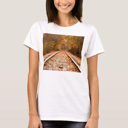 El otoño sigue la camisa