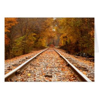 El otoño sigue notecard tarjeta pequeña