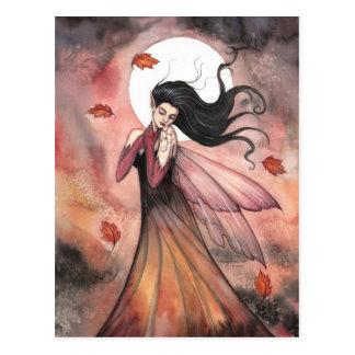 El otoño soña arte de hadas gótico de la fantasía tarjetas postales