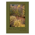 """El """"otoño soña"""" la tarjeta de felicitación en"""