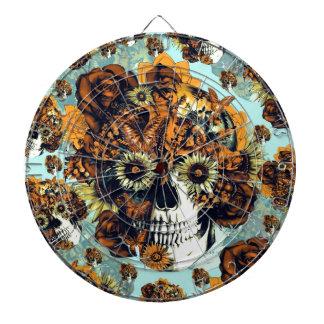 El otoño subió el cráneo en suavemente azul y nara