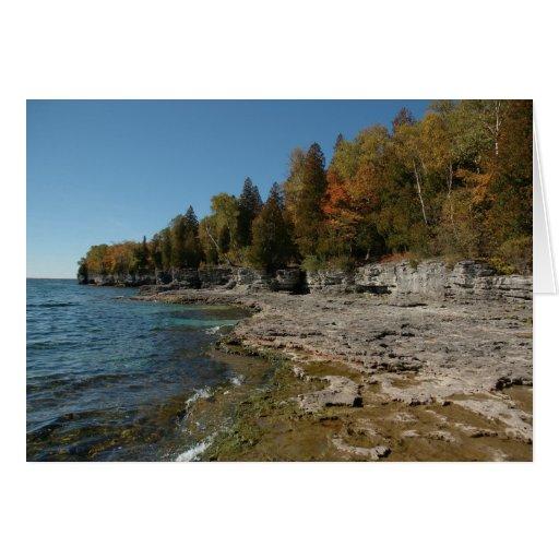 El otoño viene al lago Michigan Tarjeta De Felicitación