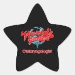 El otorrinolaringólogo más grande del mundo calcomania forma de estrella personalizada