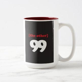 """""""[el otro] 99"""" taza de café de dos colores"""