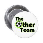 El otro botón del fútbol del equipo pins