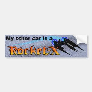 El otro coche Rocket-x (azul) Pegatina Para Auto