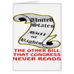 El otro congreso de Bill nunca lee la Declaración  Felicitación