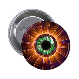 El otro de Tesla arte del fractal del ojo Pin Redondo De 2 Pulgadas