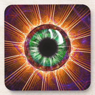 El otro de Tesla arte del fractal del ojo Posavasos De Bebida