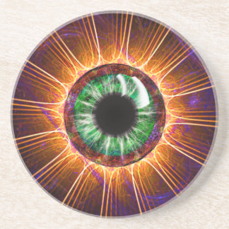 El otro de Tesla arte del fractal del ojo Posavaso Para Bebida