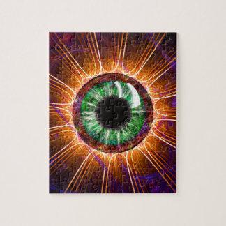 El otro de Tesla arte del fractal del ojo Rompecabezas