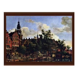 El Oudezijds Voorburgwal y el Oude Kerk en el AMS Postales
