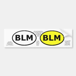 El óvalo educativo o los windowstickers de BLM Pegatina Para Auto