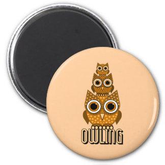 el owling imán redondo 5 cm