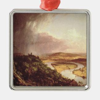El Oxbow 1836 Adorno Navideño Cuadrado De Metal