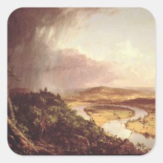 El Oxbow 1836 Pegatina Cuadrada