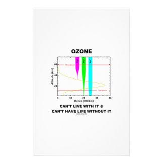 El ozono no puede vivir con él no puede tener vida papeleria personalizada