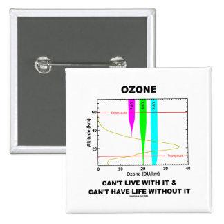 El ozono no puede vivir con él no puede tener vida pin cuadrada 5 cm
