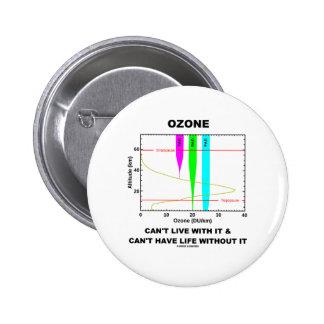 El ozono no puede vivir con él no puede tener vida pin redondo 5 cm
