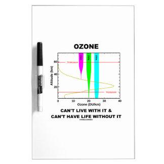 El ozono no puede vivir con él no puede tener vida pizarra
