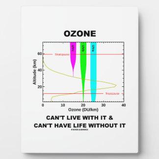 El ozono no puede vivir con él no puede tener vida placas con foto