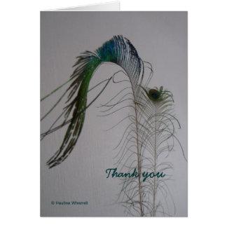 El © P Wherrell le agradece notecard de la pluma Tarjeta Pequeña