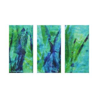 El © P Wherrell recubre con caña la lona abstracta Lienzo Envuelto Para Galerias