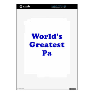 El PA más grande de los mundos Calcomanías Para El iPad 2