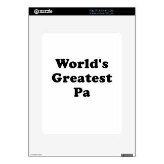 El PA más grande de los mundos Calcomanías Para iPad
